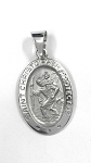 White Gold St Christopher Pendant
