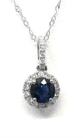 Ladies gemstone and diamond pendant ladies blue sapphire and diamond pendant aloadofball Gallery