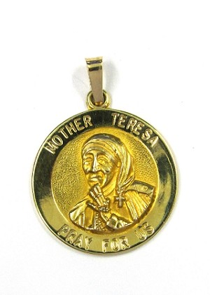 Yellow Gold Mother Theresa Pendant