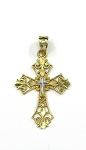 White and Yellow Gold Cross Pendant