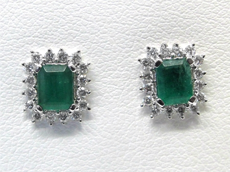 Las Diamond And Emerald Earrings